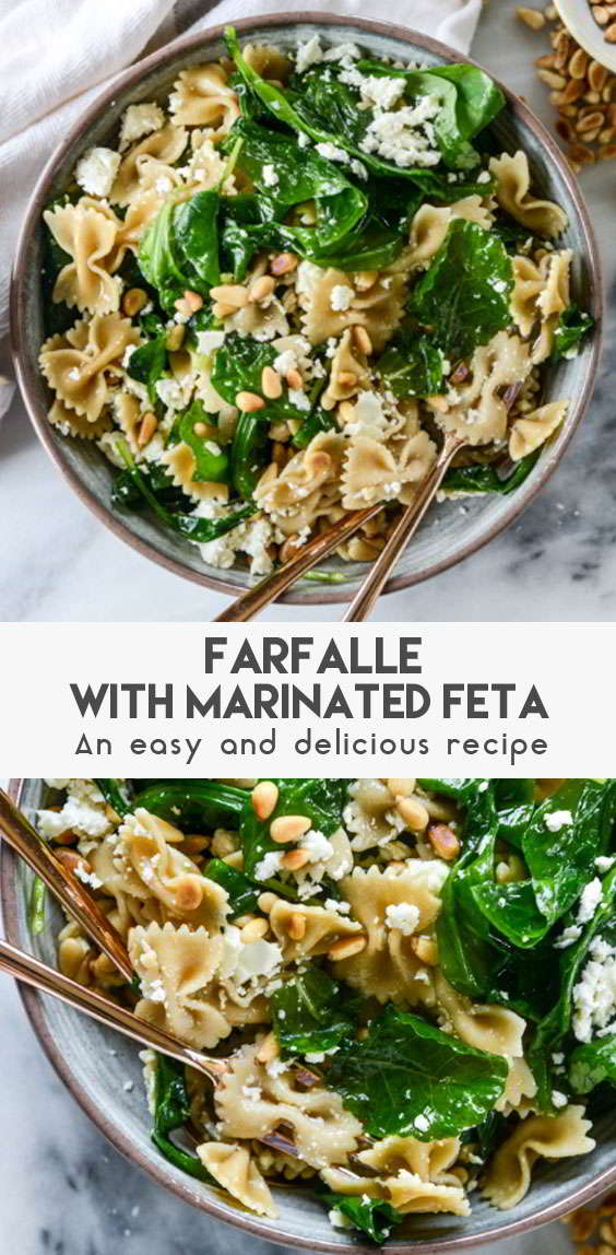 Farfalle-With-Marinated-Feta,-Arugula-And-Toasted-Pine-Nuts