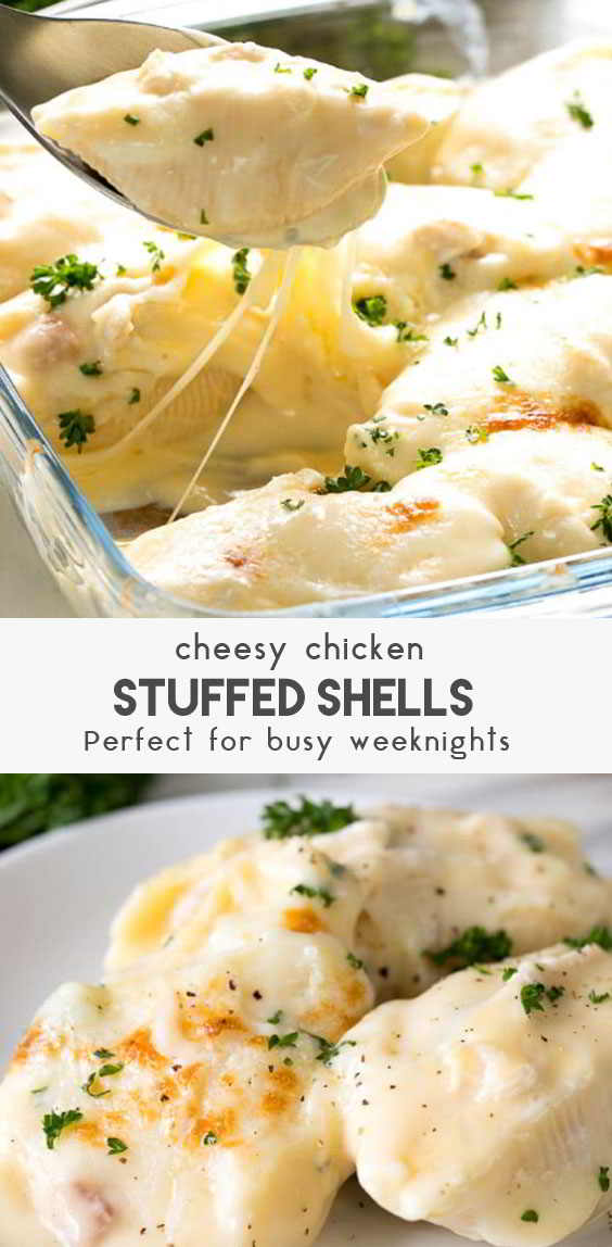 Cheesy-Chicken-Stuffed-Shells-Recipe