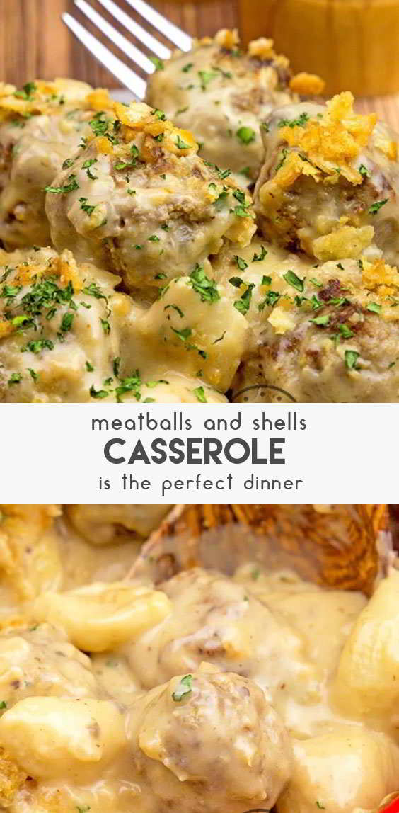 Cheesy-Meatballs-&-Shells-Casserole